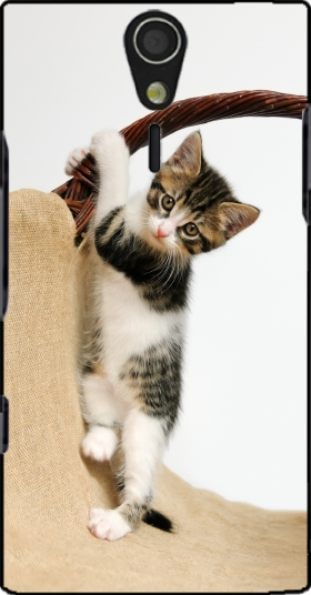 Case Baby cat, cute kitten climbing for Sony Ericsson Xperia S HD