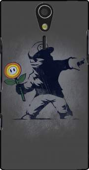 Banksy Flower bomb Case for Sony Ericsson Xperia S HD