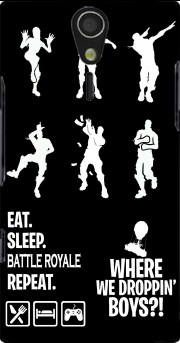 Battle Royal FN Eat Sleap Repeat Dance Sony Ericsson Xperia S HD Case
