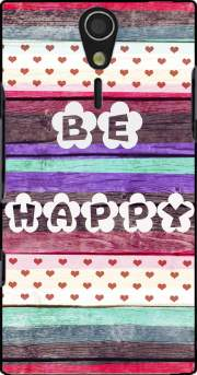 Be Happy Hippie Case for Sony Ericsson Xperia S HD