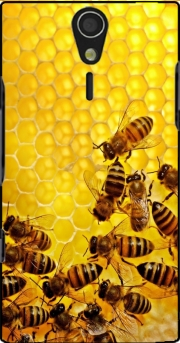 Bee in honey hive Sony Ericsson Xperia S HD Case