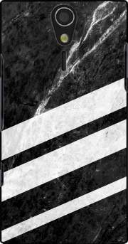 Black Striped Marble Case for Sony Ericsson Xperia S HD