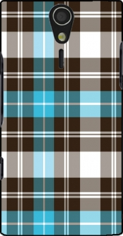 Blue Plaid Case for Sony Ericsson Xperia S HD