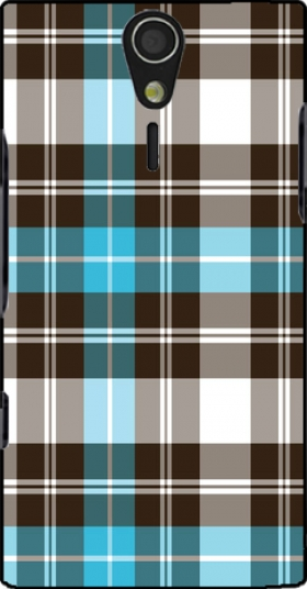 Case Blue Plaid for Sony Ericsson Xperia S HD