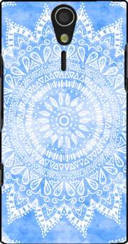 Bohemian Flower Mandala in Blue Case for Sony Ericsson Xperia S HD