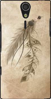 Boho Feather Case for Sony Ericsson Xperia S HD