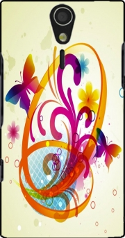 Butterfly with flowers Case for Sony Ericsson Xperia S HD