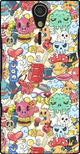 Case Cartoon Swag Grafiti Personnage for Sony Ericsson Xperia S HD