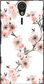 Cherry Blossom Aquarel Flower Sony Ericsson Xperia S HD Case