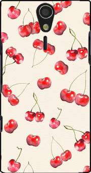 Cherry Pattern Case for Sony Ericsson Xperia S HD