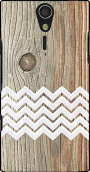 Chevron on wood Case for Sony Ericsson Xperia S HD