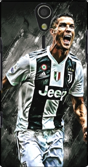 Cr7 Juventus Painting Art Sony Ericsson Xperia S HD Case
