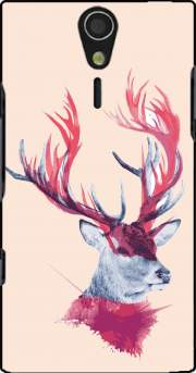 Deer paint Case for Sony Ericsson Xperia S HD