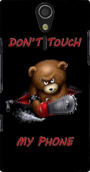 Don't touch my phone Case for Sony Ericsson Xperia S HD