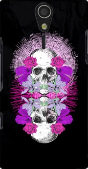Flowers Skull Sony Ericsson Xperia S HD Case