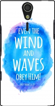 Even the wind and waves Obey him Matthew 8v27 Case for Sony Ericsson Xperia S HD