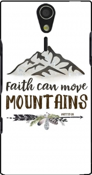 Faith can move montains Matt 17v20 Bible Blessed Art Case for Sony Ericsson Xperia S HD