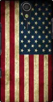 Flag USA Vintage Case for Sony Ericsson Xperia S HD