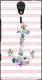 Floral Anchor in Pink Case for Sony Ericsson Xperia S HD