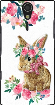 Flower Friends bunny Lace Sony Ericsson Xperia S HD Case