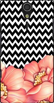 flower power and chevron Sony Ericsson Xperia S HD Case