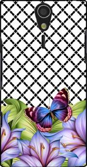 flower power Butterfly Sony Ericsson Xperia S HD Case