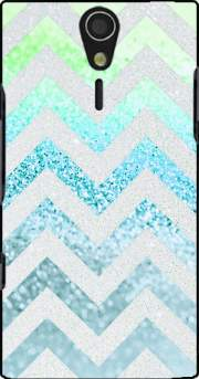 FUNKY CHEVRON BLUE Case for Sony Ericsson Xperia S HD