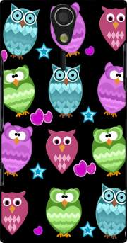 funky owls Case for Sony Ericsson Xperia S HD