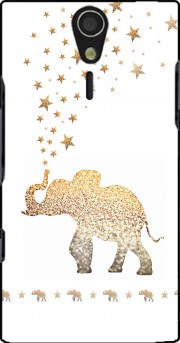Gatsby Gold Glitter Elephant Case for Sony Ericsson Xperia S HD