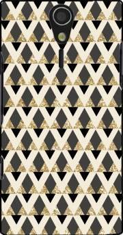 Glitter Triangles in Gold Black And Nude Case for Sony Ericsson Xperia S HD