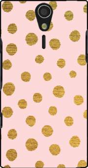 Golden Dots And Pink Case for Sony Ericsson Xperia S HD