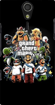 Grand Theft Mario Case for Sony Ericsson Xperia S HD