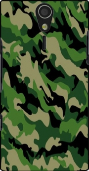 Green Military camouflage Case for Sony Ericsson Xperia S HD