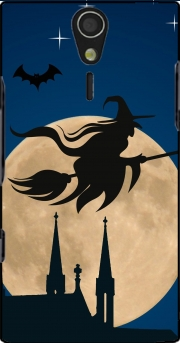 Halloween Moon Background Witch Sony Ericsson Xperia S HD Case