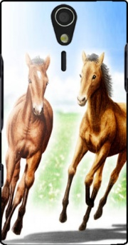 Horse And Mare Case for Sony Ericsson Xperia S HD