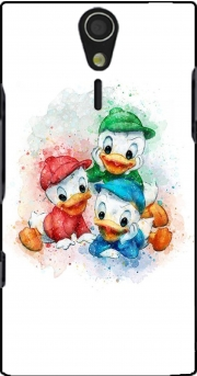 Huey Dewey and Louie watercolor art Case for Sony Ericsson Xperia S HD