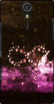 Infinity Stars purple Case for Sony Ericsson Xperia S HD
