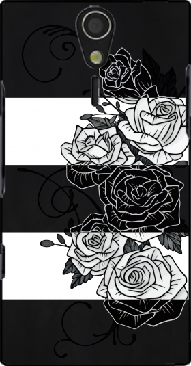 Case Inverted Roses for Sony Ericsson Xperia S HD