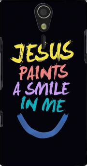Jesus paints a smile in me Bible Case for Sony Ericsson Xperia S HD