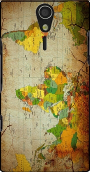 World Map Sony Ericsson Xperia S HD Case