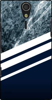 Marble Navy Case for Sony Ericsson Xperia S HD