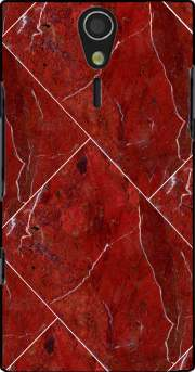 Minimal Marble Red Case for Sony Ericsson Xperia S HD