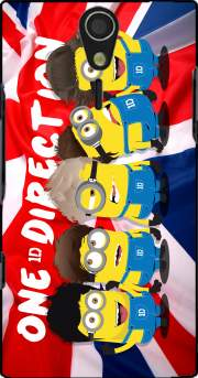 Minions mashup One Direction 1D Case for Sony Ericsson Xperia S HD