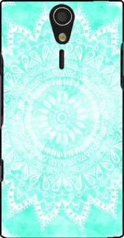 Mint Bohemian Flower Mandala Case for Sony Ericsson Xperia S HD