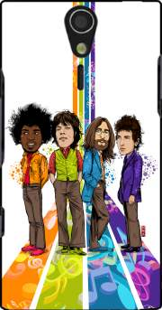 Music Legends: Lennon, Jagger, Dylan & Hendrix Case for Sony Ericsson Xperia S HD
