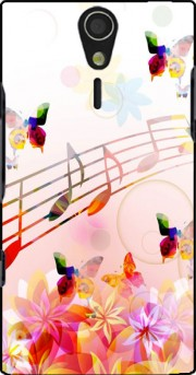 Musical Notes Butterflies Case for Sony Ericsson Xperia S HD