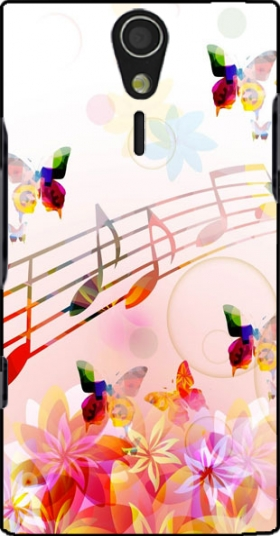 Case Musical Notes Butterflies for Sony Ericsson Xperia S HD