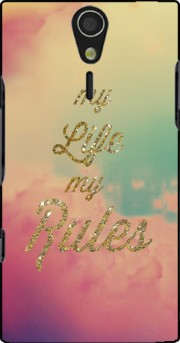 My life My rules Case for Sony Ericsson Xperia S HD