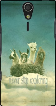 NEVER STOP EXPLORING Case for Sony Ericsson Xperia S HD