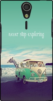 Never Stop Exploring - Lamas on Holidays Case for Sony Ericsson Xperia S HD